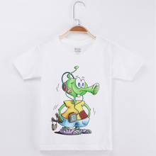 New Arrival Children Design T-shirt Funny Alien Print Cotton Short Child Shirt Girl Clothing Boys T Shirts Kids Clothes Tops Tee