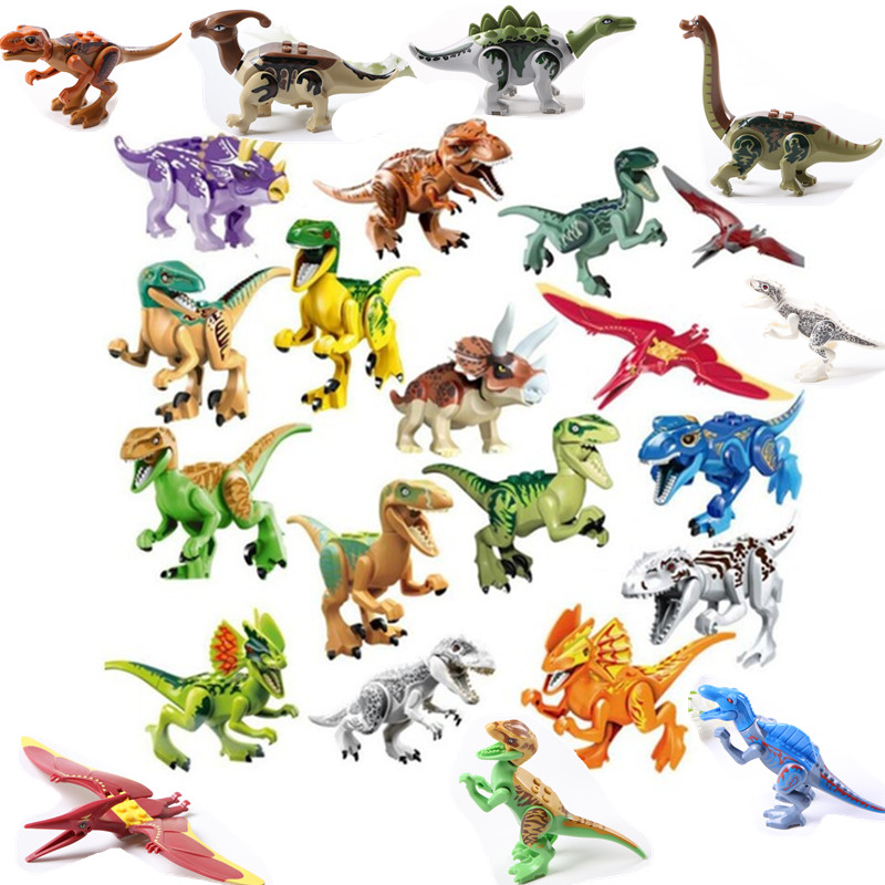 6/8/16/24Pcs/set Jurassic Dinosaur World 2 Figure Building Block Bricks Toy Tyrannosaurus Rex Compatible with Legoing Dinosaur