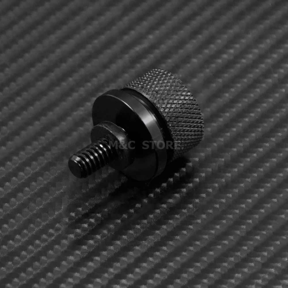"""אופנוע 1/4 """"-20 חוט מושב הר בורג ברז בורג אגוז CNC אלומיניום עבור הארלי Softail סיור Sportster 1996 -2013 2014 2015"""