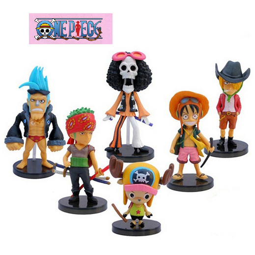 6Pcslot Anime One Piece Luffy Zoro Chopper Sanji Action Figure Toys Dolls Modle Collection Free Shipping