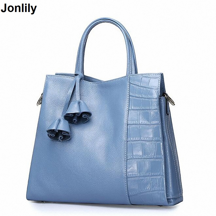 New Fashion Brand Genuine Leather Women Handbag Europe And America Oil Wax Leather Shoulder Bag Casual Women Bag LI-1656 shengdilu new arrival 2017 brand genuine leather women handbag soft leather fashion shoulder bag casual women monbag