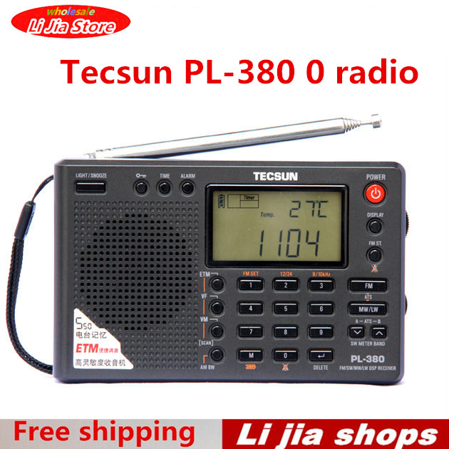 Tecsun PL-380 PL380 radio Digital PLL Portable Radio FM Stereo/LW/SW/MW DSP Receiver Nice old version degen de1103 1 0 ssb pll fm stereo sw mw lw dual conversion digital world band radio receiver de 1103 free shipping