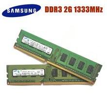 Samsung memória ram, 2g 2gb 1r/2rx8 pc3 10600u ddr3 1333mhz pc computador desktop memória ram 2g pc3 10600u ddr3 1333 ram