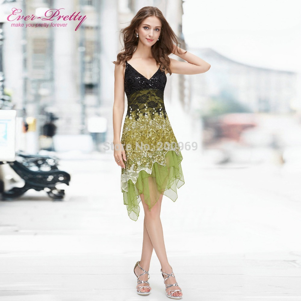 Cocktail Dresses Ever Pretty EP00045 Summer Styles New Arrival Hot Sexy Flowing Knee Length Lace Cocktail Party Dresses
