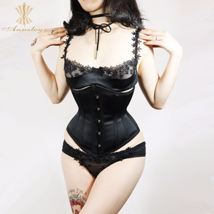 Image 3 - Cheap Plus Size Corsets For Sale Fast Slim 3 7 Inches Waist Slimming Steel Boned Underbust Korset