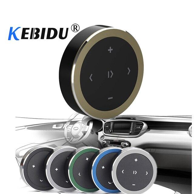 Kebidu sans fil Bluetooth média bouton multifonctionnel volant télécommande avec pile bouton CR2032 pour moteur de voiture