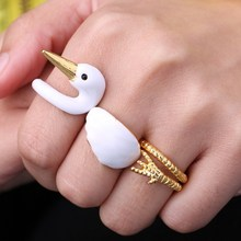 Christmas Gift Simple gold color High Quality Goose Women joint Ring Jewelry Accessories Factory Supply