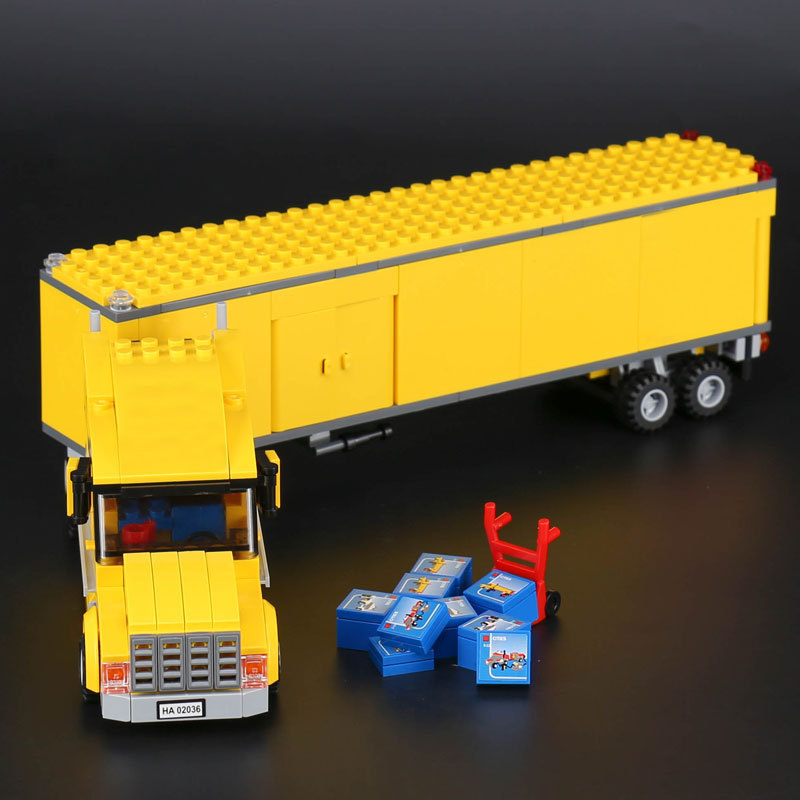 lepine city truck 02036 Model Building Blocks Bricks Compatible 3221 Children Educational toys Christmas gift LegoINGlys Truck sermoido 02012 774pcs city series deep sea exploration vessel children educational building blocks bricks toys model gift 60095