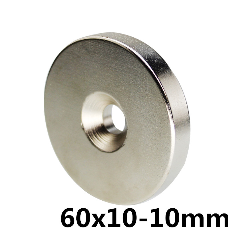 60*10 NdFeB Lifting Ring Magnet Dia. 60x10 mm with M10 Screw Countersunk Hole 10 mm Neodymium Rare Earth Permanent Magnet60*10 NdFeB Lifting Ring Magnet Dia. 60x10 mm with M10 Screw Countersunk Hole 10 mm Neodymium Rare Earth Permanent Magnet