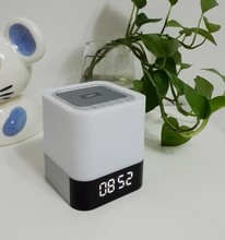 DY28 Portable Wireless Bluetooth Stereo Speaker Support AUX Audio Input Handsfree Call Time Alarm Mode LED Shinning
