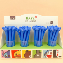 48pcs/pack 5 Designs Creative Cartoon STITCH TOTORO DUCK Black Ink Gel Pen Promotion Gift Unisex Lovely Cute Stationery