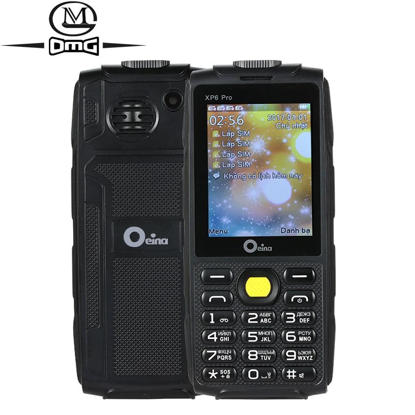 Oeina XP6 Pro Russian keyboard Quad Sim mobile phone 2 4 Quad Band GSM Wireless FM