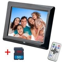 8 Inch Digital Photo Frame 8 GB LED Backlight High Definition 800x480 Electronic Album Picture Music Video Good Gift