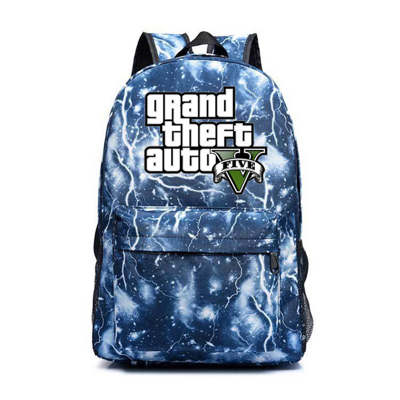 GTA5 Backpacks Male/female GTA V School Bags Pack Grand Theft AutoV Schoolbags Travel Backpacks For Teenagers Sac A Dos