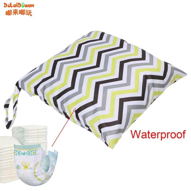 Pieluszka dla niemowląt wodoodporne wielokrotnego użytku zmywalny Wet Dry tkaniny zamek torba na pieluszki nowy