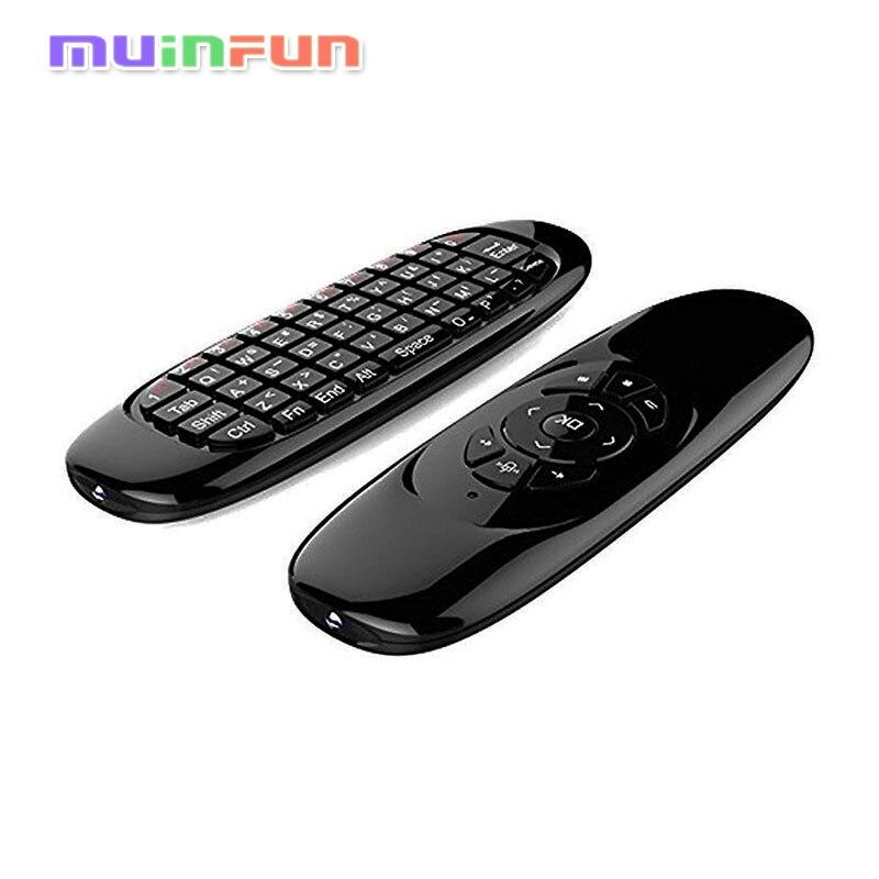 Fly Air Mouse C120 2.4 GHz Wireless Telecomando T10 con 3D Gyro Movimento Giroscopio Mini Tastiera Per PC Android TV Box XBMC