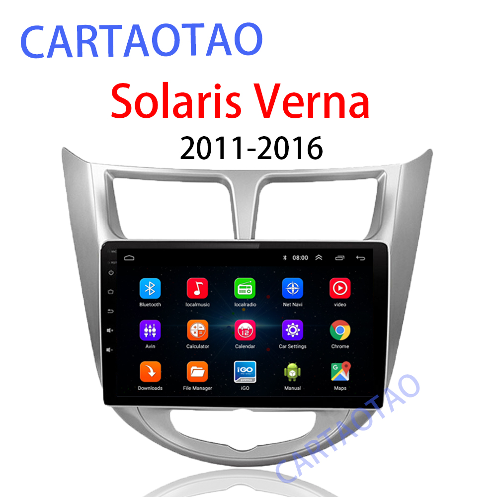 9 2 din Android 8 1 car DVD player for modern Solaris accent Verna 2011 2016