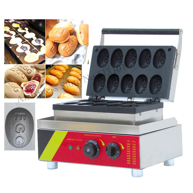 Big Egg Shape Waffle Machine Fun EGG Type Waffle Maker Wonderful Snack  Machine Non