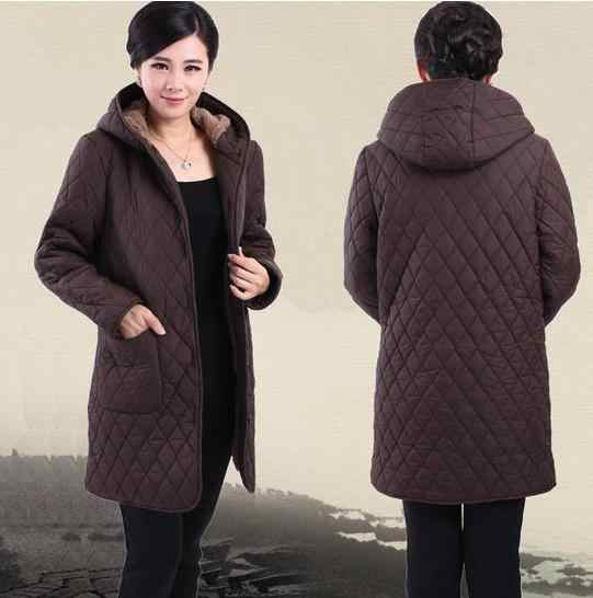 7d546a0cf Down coat 2017 women winter jacket coat middle-aged women XL-6XL winter  plus velvet hooded coat jacket mother parka 81598