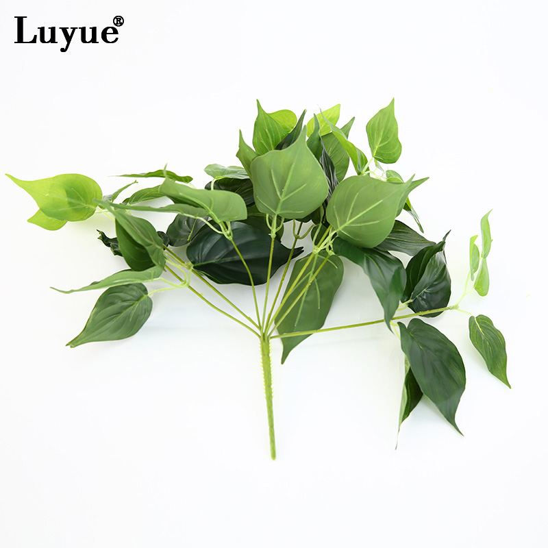 luyue garden plants green imitation fern plastic artificial grass