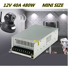 Switch Power Supply 12V 40A 480W for 110-220V Security System for CCTV Camera