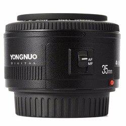 عدسة YONGNUO YN35mm F2.0 F2N ، عدسات لنيكون YN50mm F Mount D7100 D3200 D3300 D3100 D5100 D90 DSLR ، لكاميرا كانون DSLR