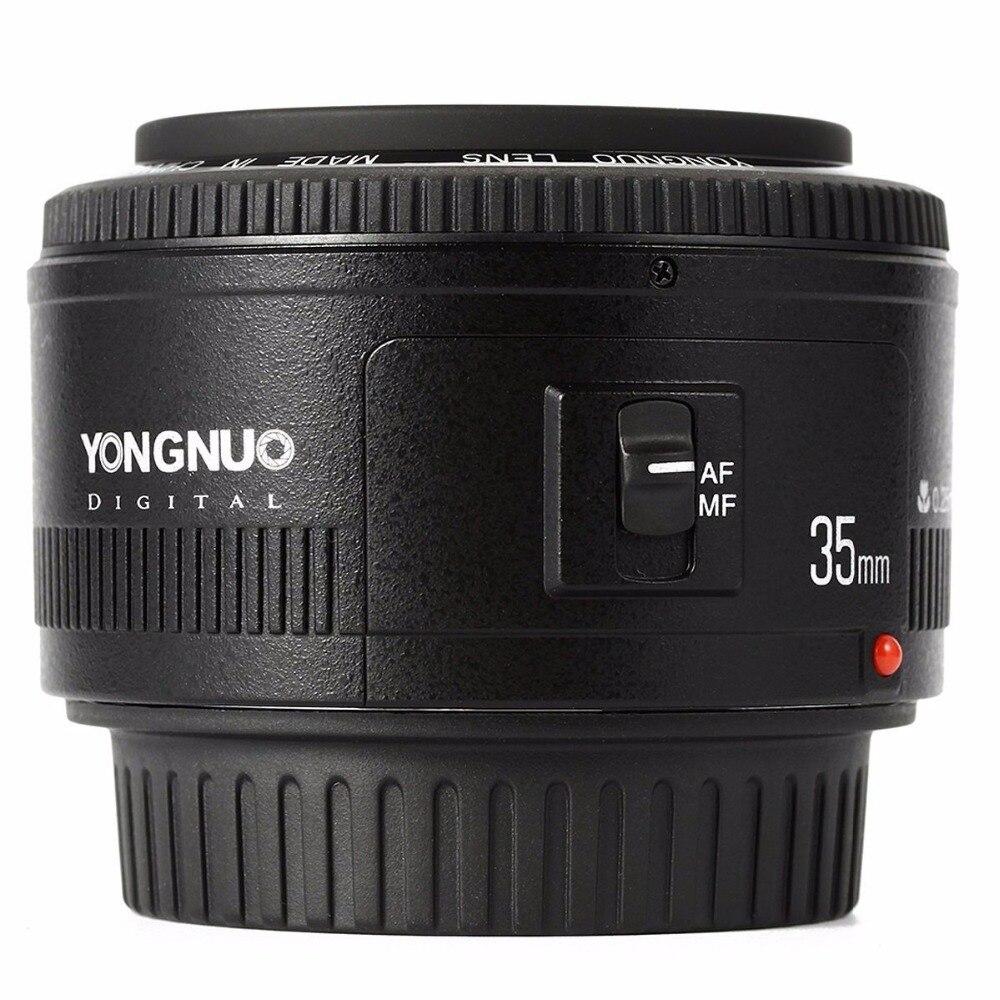 Objectif YONGNUO YN35mm F2.0 F2N, objectif YN50mm pour Nikon F Mount D7100 D3200 D3300 D3100 D5100 D90 appareil photo reflex numérique, pour appareil photo reflex numérique Canon