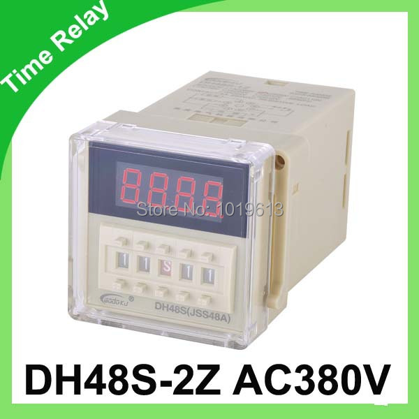 AC digital time relay 380v cycle timer relay delay 0.1s~9.9s dh48s-2z dhc wenzhou dahua time relay dhc10s s dual time cycle delay relay infinite loop