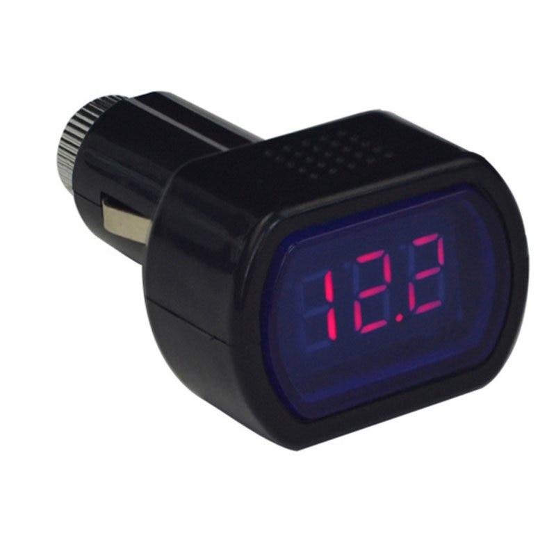 Uusim kaasaskantav digitaalmonitor auto voltvoltidega voltmeetri tester LCD-sigaretisüütaja pinge paneelmõõdik