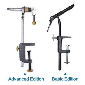 Image 5 - Rotary Fly Tying Vise C Clamp Steel Hard Jaws 360 Rotating Table Vise of Fly Tying Tools kit Making Fly Fishing Tools Vice
