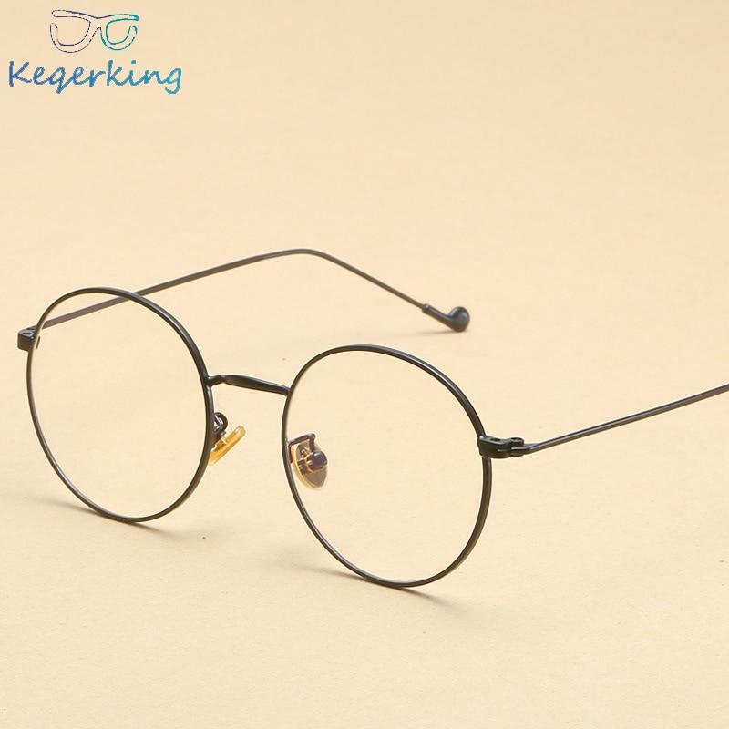 Women Optical Glasses Frame Men Square Gold Metal High Quality Small Round Transparent Eyeglasses Frame Women Unisex ZB-95