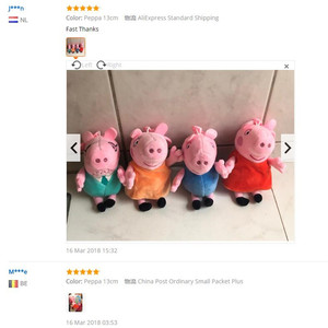 Image 5 - Peppa pig George pepa Pig Family Plush Toys 19cm Stuffed Doll Party decorations Schoolbag Ornament Keychain Toys For Children