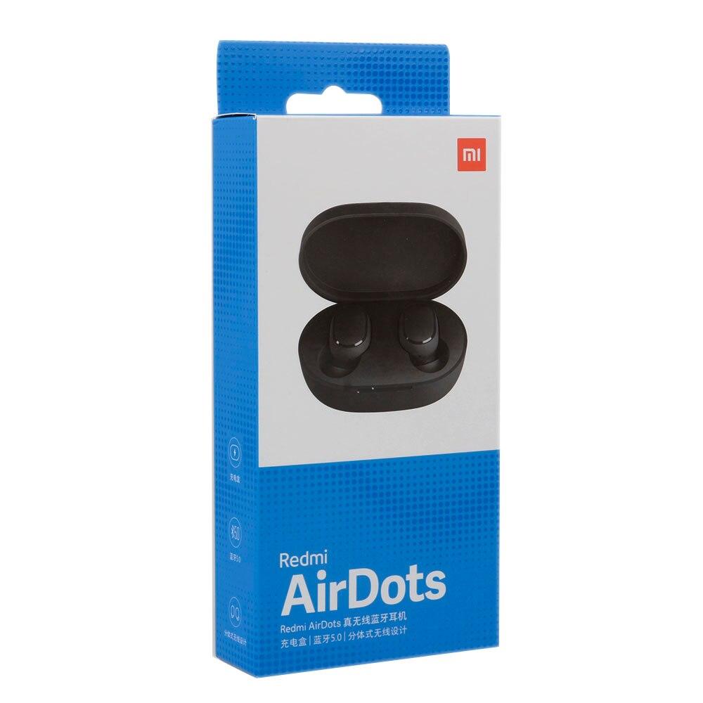 Xiaomi Redmi Airdots Eabuds беспроводные Bluetooth наушники стерео бас Bluetooth 5,0 с микрофоном громкой связи AI управление TWS