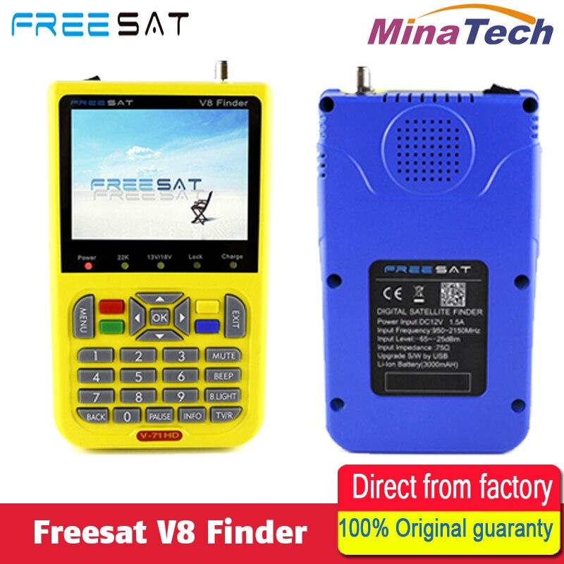 100% Original Freesat V8 Finder HD DVB-S2 High Definition Satellite Finder MPEG-2 MPEG-4 Freesat satellite Finder V8