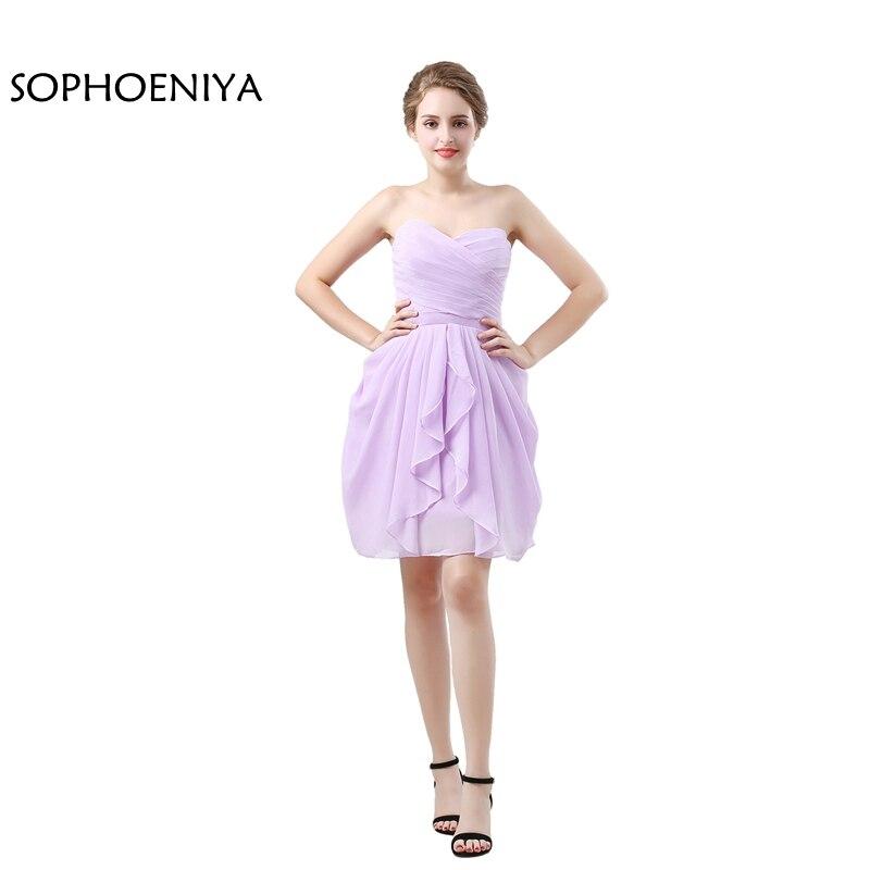 Nouveauté mousseline de soie courte robes de demoiselle d'honneur 2019 Vestido de festa vestido longo robe en mousseline de soie robe de demoiselle d'honneur madrinha