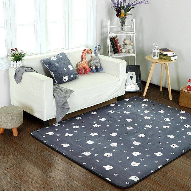 Cartoon Bear Head Carpets For Living Room Soft Carpet Kids Room Home