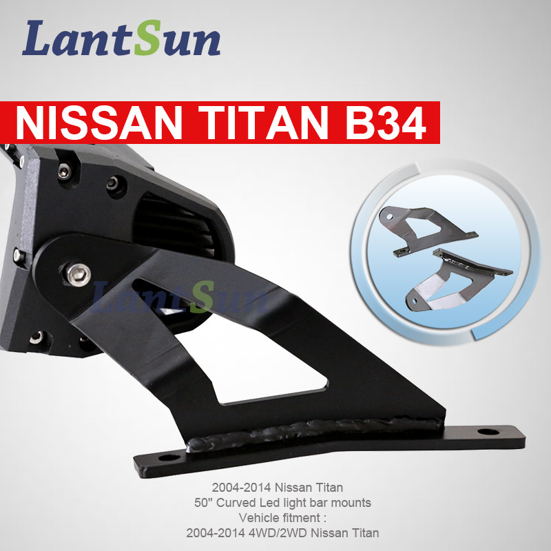 Pair B34 50'' curved led light bar black steel roof mount brackets for 2004-2014 N issan Titan partol black car roof rack cross bars roof luggage carrier cargo boxes bike rack 45kg 100lbs for honda pilot 2013 2014 2015