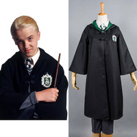 Kids Gryffindor Cloak Slytherin School Uniform Draco Malfoy Costume Cosplay For Child Haloowenn Carnival Costumes Robe