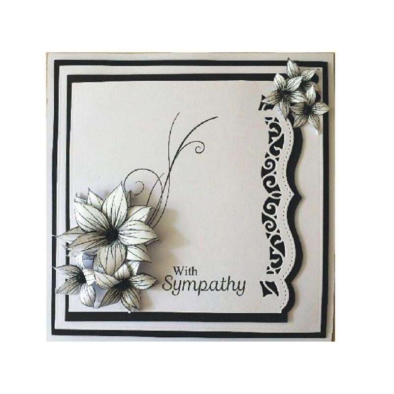 Flor de Corte Morre Cartões Scrapbooking Die 3D Carimbo Cartão DIY Scrapbooking Foto Decoração Suprimentos lacework