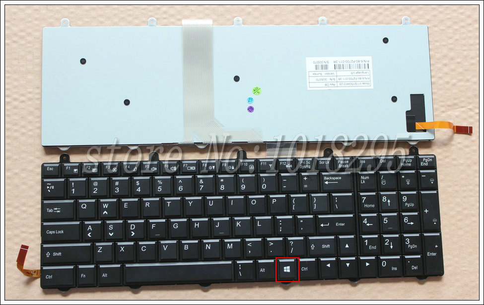 NEW Keyboard for Clevo P651SG P650SG Gaming Laptop Keyboard US English Backlit