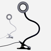 12W USB 3 Level Dimmer LED Eye Protection Study Desk Lamp Flexible Table Lamp With Clip Gooseneck Office Desk Light