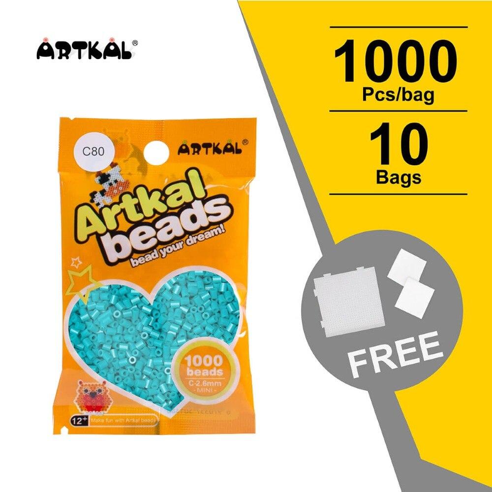 free shipping 33,000 beads 2.6mm mini artkal fuse beads 66 colors 500pcs/bag hama beads educational toys great fun