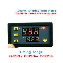 цена на Timer Delay Relay Module Dual Digital LED Display Time Switch 0-999s 0-999m 0-999h Adjustable