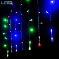 Christmas Lights Outdoor Decoration Curtain Waterdrop Icicle String LED Light 220V New Year Garden Xmas Wedding Party Holiday