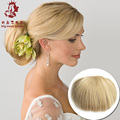 Hot Hig Quality Women Straight Elastic Bride Hair Bun Chignon Hairpiece Natural Hair Accessories Synthetic Updo Styling Tool