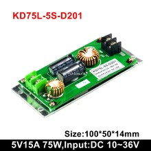 5v 15a 75w Bus Led Message Display Power Supply , 24vdc Input Voltage Support Taxi Led Moving Text Signs Power Supply(China)