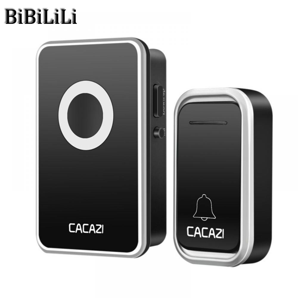 все цены на New Waterproof Home Wireless Doorbell 300M Remote LED Light Calling Bell Battery Control Button 38 Songs 3 Volume US EU Plug онлайн