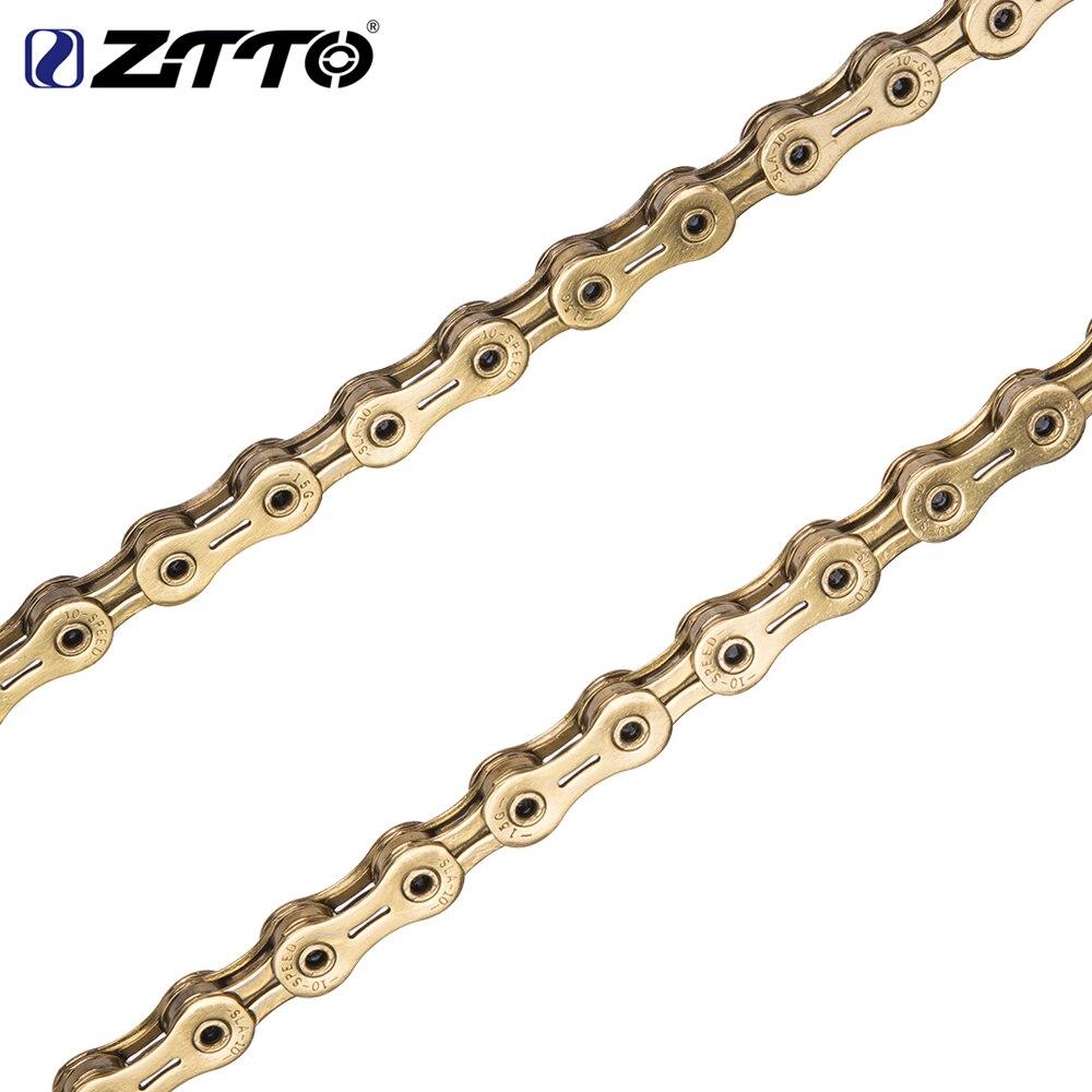 Ztto nouveau 10 s doré creux SLR chaîne vélo partie Durable or 20 s 30 v 10 vitesses pour vtt VTT route K7 pièces HG système