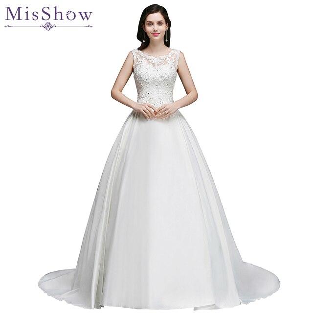 ef5b7433f9e05 Gerçek fotoğraf lüks 2019 düğün elbisesi Dantel Aplikler Şapel Tren  vestidos de noiva barato Kolsuz Sırf Geri gelinlik Elbisesi