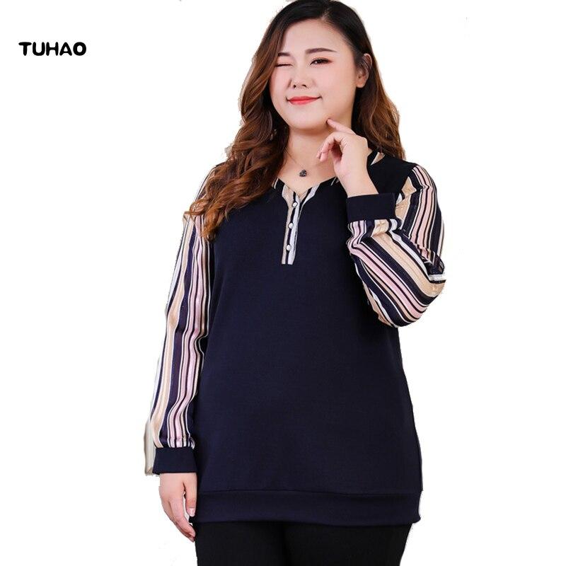 Blusa Oficina 2018 Marino De Camisa Invierno Tuhao Suelta Las Mujeres 6xl Azul Dama 8xl Plus E Blusas Ms Tamaño Otoño Punto 10xl wxBqa6v